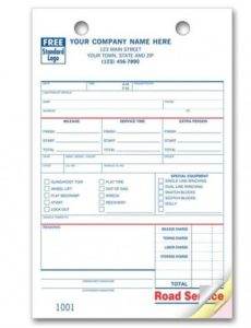 towing invoice - roadside service forms   designsnprint roadside assistance invoice template