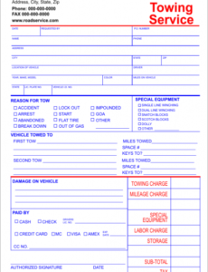 towing service invoice template carbonless invoice template forms towing service invoice template