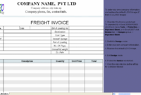 Transportation Invoice Template – Investasibimbel Transport Service Invoice Template