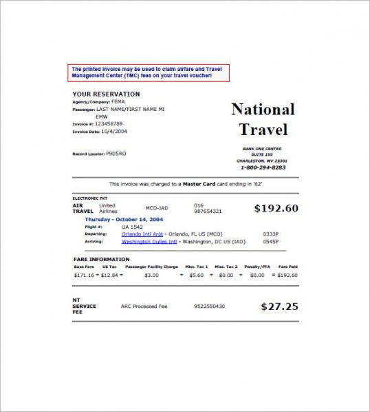 Travel Invoice Templates Free Word Excel Pdf Format Download - Free pdf invoice template download