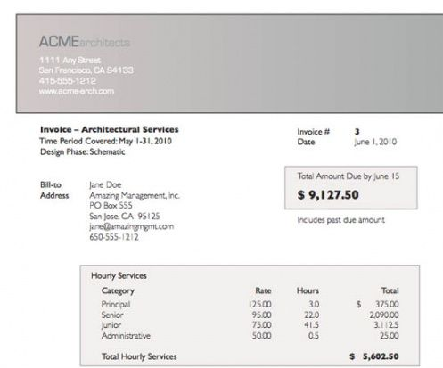 architect invoice - incep.imagine-ex.co architect invoice template