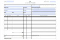 Auto Repair Invoice Templates – 12+ Free Word, Excel, Pdf Format Auto Mechanic Invoice Template