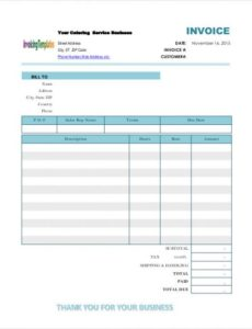 catering invoice templates - 8 free word, pdf format download | free catering service invoice template