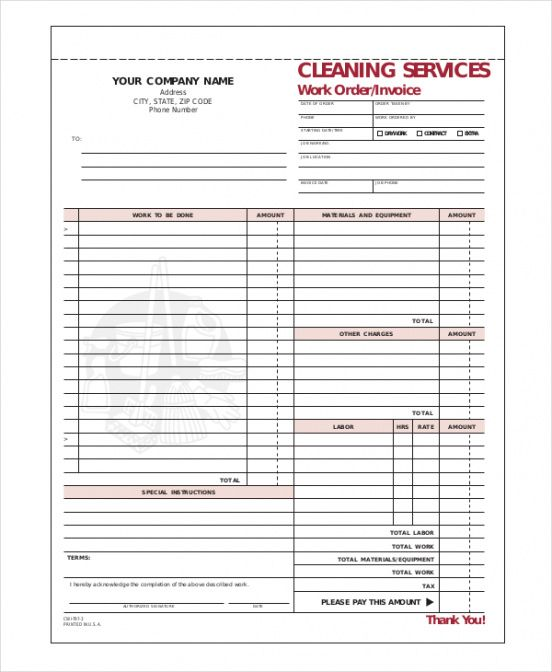 cleaning invoice template- 7+ free word, pdf documents download commercial cleaning invoice template