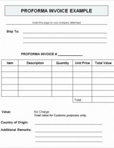 commercial proforma invoice template fresh proforma invoice format commercial proforma invoice template