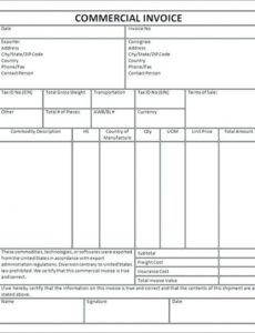 commercial proforma invoice template ups customs cooperative commercial proforma invoice template