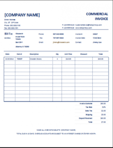 export commercial invoice template customizable commercial invoice export commercial invoice template