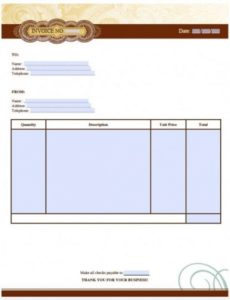 free artist invoice template | excel | pdf | word (.doc) artists invoice template