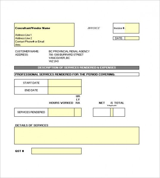 free contractor invoice templates | free & premium templates self calculating invoice template