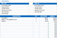 free excel invoice templates - smartsheet self calculating invoice template