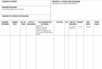 Free International Commercial Invoice Templates – Pdf | Eforms Fillable Commercial Invoice Template