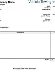 free tow service invoice template | excel | pdf | word (.doc) tow truck invoice template