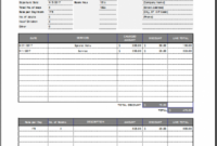 Hotel Invoice Template For Excel | Word & Excel Templates Accommodation Invoice Template