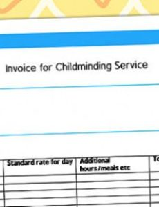 invoice for childminding service template - child minder childminder invoice template