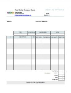 invoice template for rent monthly rent invoice template lease monthly rent invoice template