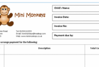 Invoices & Receipts – Mindingkids Childminder Invoice Template