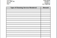 printable cleaning service receipts cleaning invoice template