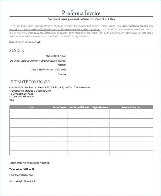 Proforma Invoice Free Download Onlinehobbysite Us Customs Proforma