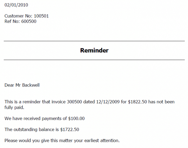 Reminder Letter For Outstanding Payment Invoice Overdue Invoice - Overdue invoice email