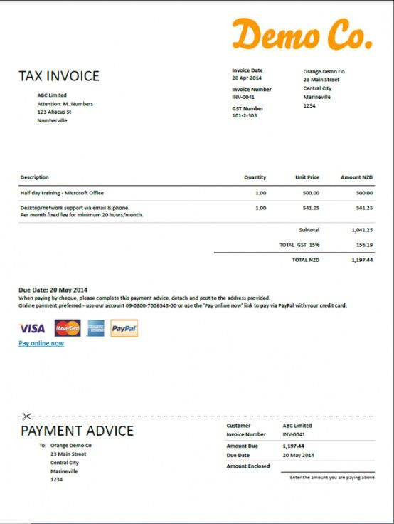 tax invoice template nz | free printable invoice sole proprietor invoice template