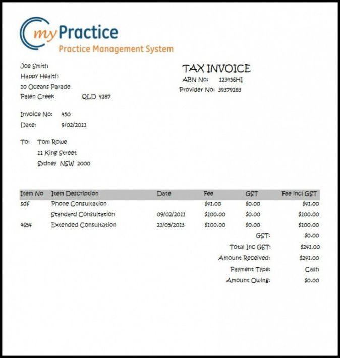 therapy invoice template  Therapy Invoice Template – Guve.securid.co Massage Therapist Invoice ...