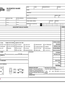 towing invoice - roadside service forms | designsnprint tow truck invoice template