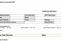 Used Car Sales Receipt Template Free | Flipping Cars Motor Trade Invoice Template