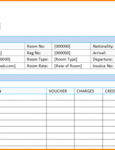 bill hotel format in word.guest house bill format in word hotel guest house invoice template