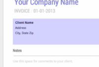 Blank Invoice Template – Free For Google Docs Cashboard Invoice Template