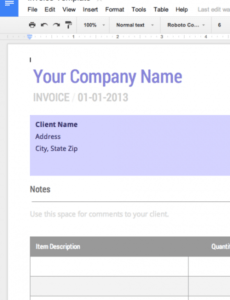 blank invoice template - free for google docs cashboard invoice template