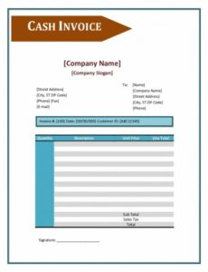 cash sale invoice template cash invoice template invoice example cash sale invoice template