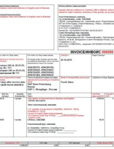 doing business in russia hints: shipping invoice example to be used russian invoice template