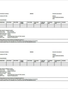example university invoice template in pdf format | templatezet university invoice template