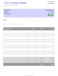 free blank invoice template for microsoft word cashboard invoice template