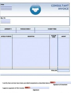 free consulting invoice template | excel | pdf | word (.doc) joke invoice template