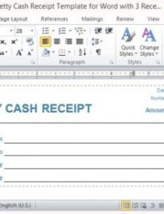 free petty cash receipt template for word with 3 receipts per page petty cash invoice template
