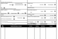 free ups commercial invoice template | excel | pdf | word (.doc) ups commercial invoice template