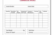 Generic Commercial Invoice – Serjiom Journal Non Commercial Invoice Template