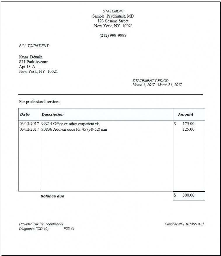 insurance claim invoice template  Invoice Insurance Insurance Claim Invoice Template – Dinara ...