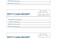 Petty Cash Receipt (3 Per Page) Petty Cash Invoice Template