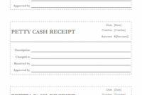 Petty Cash Receipt Template | Free Petty Cash Receipt Template Petty Cash Invoice Template