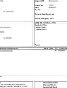 ups commercial invoice template commercial invoice template ups commercial invoice template