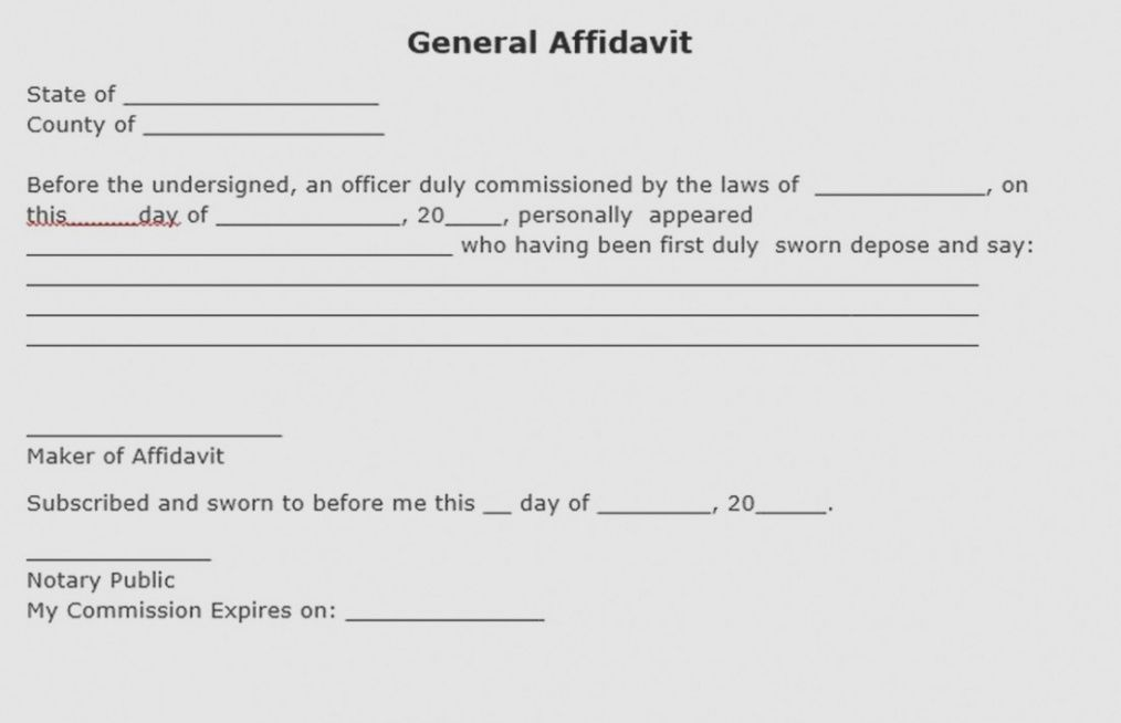 13 facts that nobody told you about notary | form information notary affidavit template