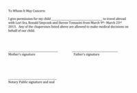 25+ Notarized Letter Templates & Samples (Writing Guidelines) Notary Public Document Template