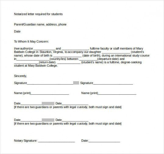 32+ notarized letter templates - pdf, doc | free & premium templates notary acknowledgement template