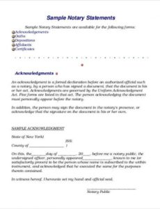 32+ notarized letter templates - pdf, doc | free & premium templates notary public document template
