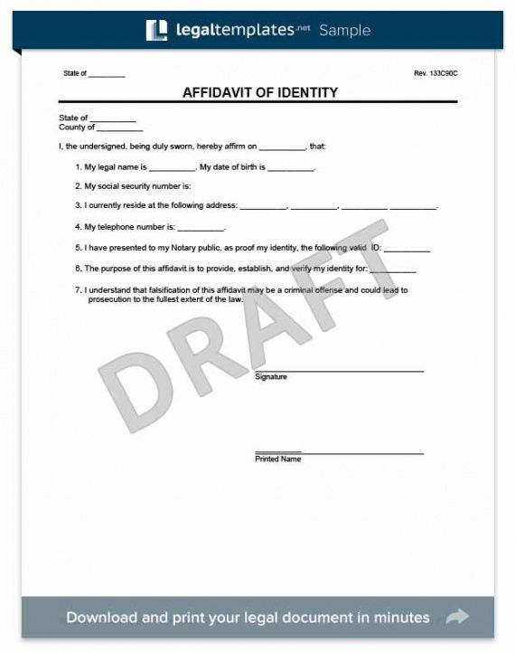 free affidavit forms | create & download affidavit templates & samples notary affidavit template