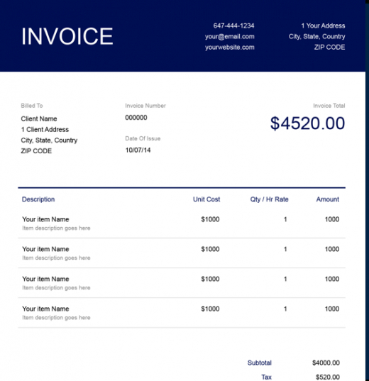 free notary public invoice template | freshbooks notary receipt template