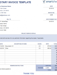 notary invoice template | chakrii notary receipt template