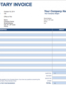 notary invoice template | free invoice templates notary receipt template